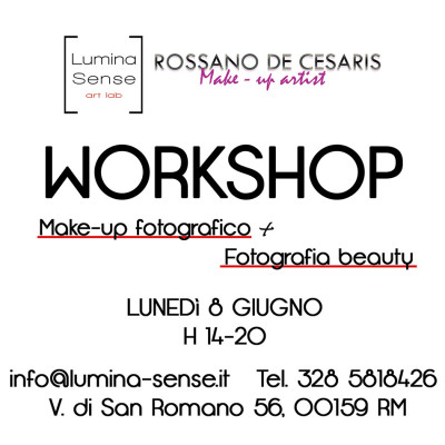 workshop fotografico make-up roma